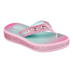 Girls' Skechers Twinkle Toes Sunshines Thong Pink/Multi