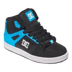 Boys' DC Shoes Rebound SE Glow in the Dark High Top Sneaker Black/Blue