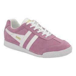 Women's Gola Harrier Sneaker Dusky Pink/White Suede