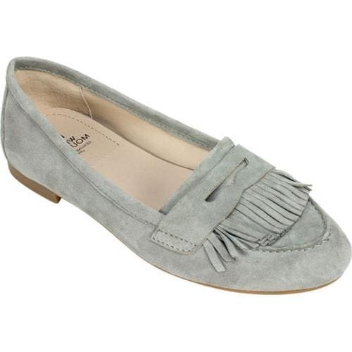 eeb6cdab094 Women s White Mountain Maddox Kiltie Loafer Fossil Grey Suede - Free  Shipping Today - Overstock.com - 21188053