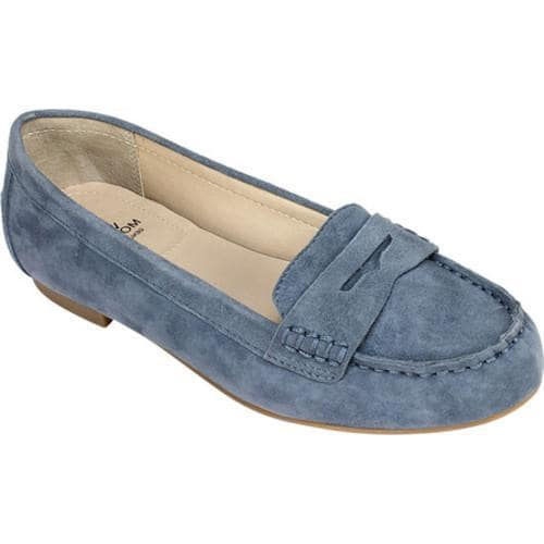 ad9cec88567 Shop Women s White Mountain Markos Penny Loafer Rhapsody Blue Suede - Free  Shipping Today - Overstock - 14650085