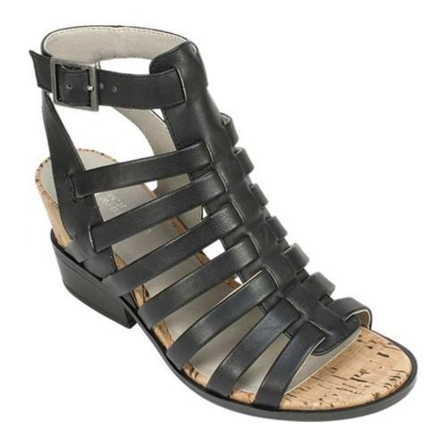 2ccdc41a5f1d Shop Women s White Mountain Sella Strappy Sandal Black RG Burnished Smooth  Polyurethane - Free Shipping Today - Overstock.com - 14650096