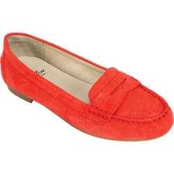 Women's White Mountain Markos Penny Loafer Chili Red Suede
