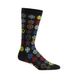 Men's Ozone Emblem Dots Socks (2 Pairs) Black