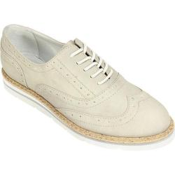 Women's White Mountain Tanner Wingtip Oxford Light Grey Nubuck Polyurethane