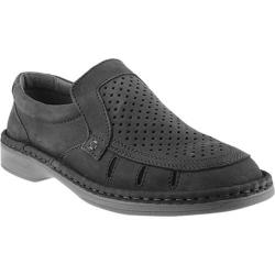 Men's Spring Step Apollo Perforated Loafer Black Leather