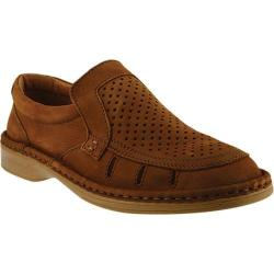 Men's Spring Step Apollo Perforated Loafer Camel Leather