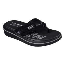 Women's Skechers Relaxed Fit Upgrades Marina Bay Thong Black