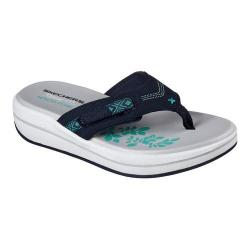 Women's Skechers Relaxed Fit Upgrades Marina Bay Thong Navy