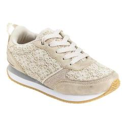 Girls' Hanna Andersson Magda Lace Up Sneaker Light Gold Polyurethane