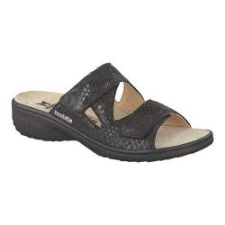 Women's mobils by Mephisto Geva Slide Sandal Black Queen Leather