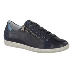 Women's mobils by Mephisto Hawai Sneaker Navy Silk/Indigo Velcalf/Blue Magic Leather