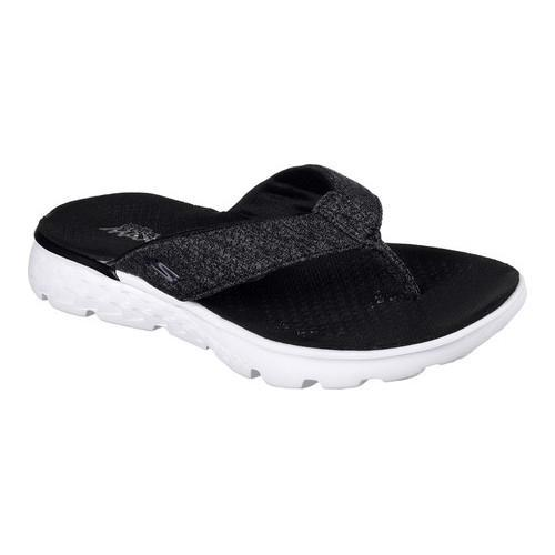 5c6759693a7e Shop Women s Skechers On the GO 400 Vivacity Flip-Flop Black White - Free  Shipping On Orders Over  45 - Overstock.com - 14731523