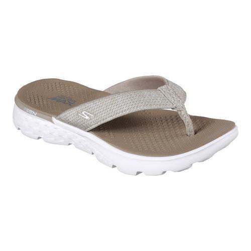 4e055255841d Shop Women s Skechers On the GO 400 Vivacity Flip-Flop Taupe - Free  Shipping On Orders Over  45 - Overstock - 14731526