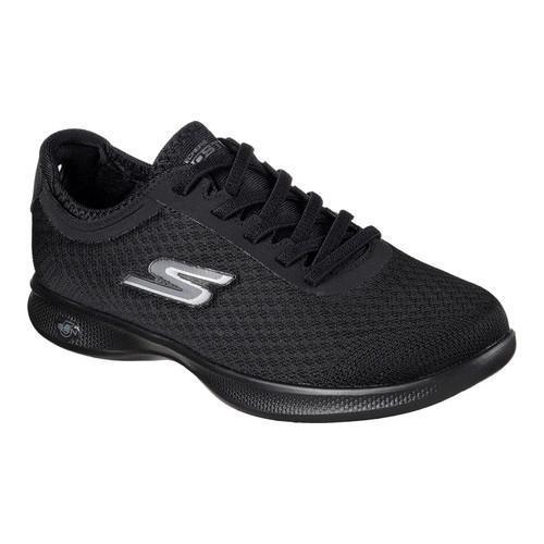 Women's Skechers GO STEP Lite Dashing Sneaker Black/Black