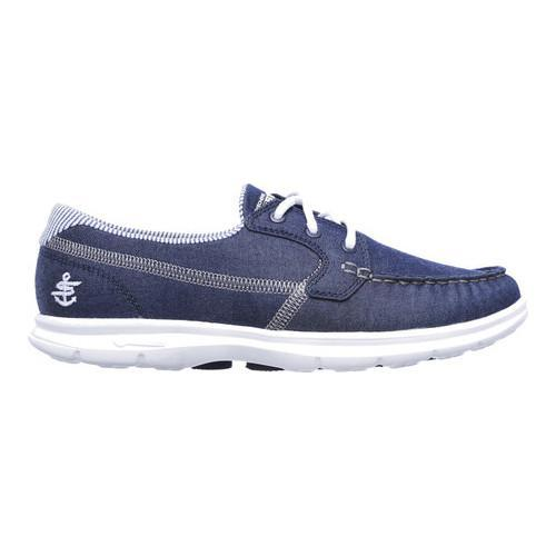 Women's Skechers GO STEP Indigo Boat Shoe Denim - Thumbnail 1