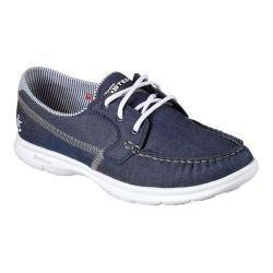 Women S Skechers Go Step Indigo Boat Shoe Denim