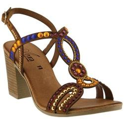 Women's Azura Matrix Studded Slingback Sandal Camel Suede