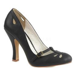 Women's Pin Up Smitten 20 Mary Jane Pump Black Faux Leather