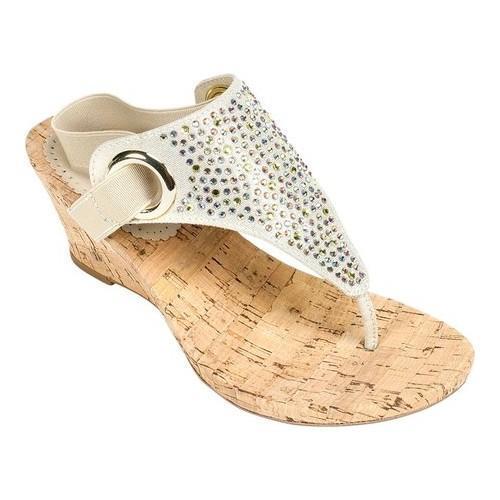 Shop Women S White Mountain Aldon Cork Sandal Gold