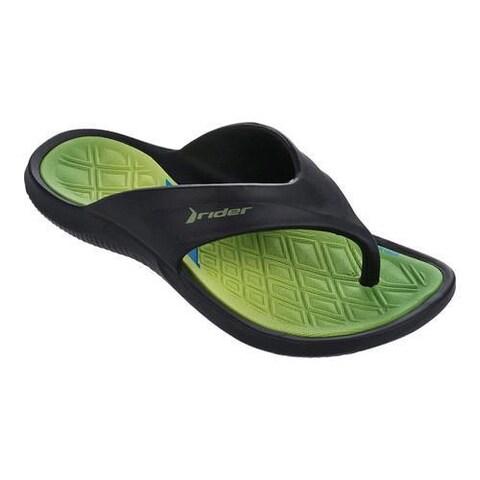 Children's Rider Cape VIII Thong Sandal Black/Green