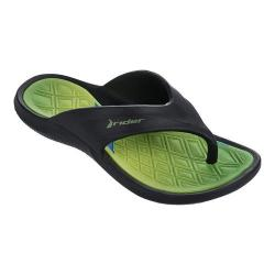 Children's Rider Cape VIII Thong Sandal Black/Green