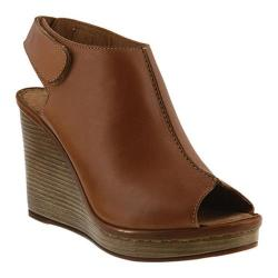 Women's Spring Step Boca Wedge Sandal Brown Leather