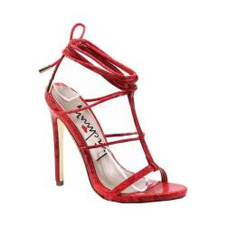 Women's Luichiny Her Story Sandal Red Orange Snake Imi Leather