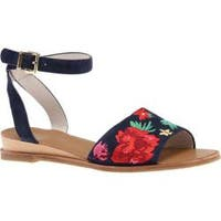 Women's Kenneth Cole New York Jory 3 Embroidered Sandal Marine Leather