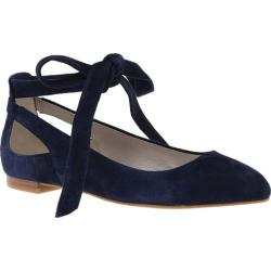 Women's Kenneth Cole New York Wilhelmina Lace Up Flat Navy Suede
