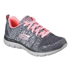 Women's Skechers Flex Appeal 2.0 High Energy Training Shoe Charcoal/Coral