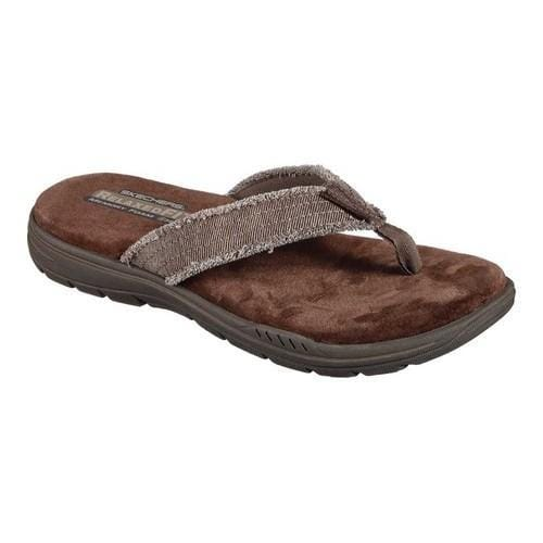 6c9397e51975 Shop Men s Skechers Relaxed Fit Evented Arven Thong Sandal Brown - Free  Shipping On Orders Over  45 - Overstock - 14775731