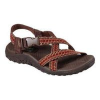 Women's Skechers Reggae Kooky River Sandal Brown/Orange