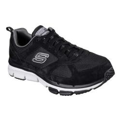Men's Skechers Relaxed Fit Optimizer Lace Up Black/White