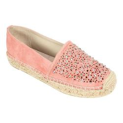 Women's White Mountain Hydrangea Espadrille Rosewood Distressed Suedette
