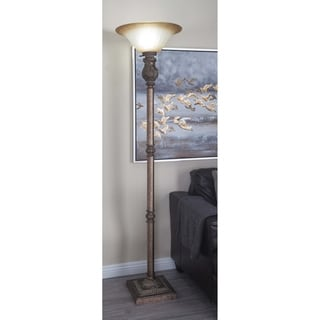 Studio 350 PS Metal Glass 18-inches Wide x 74-inches High Torchiere