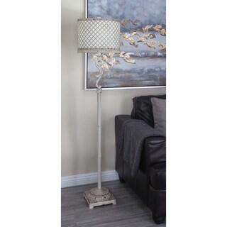Modern 62 Inch Iron Floor Lamp with Latticed Drum Shade by Studio 350