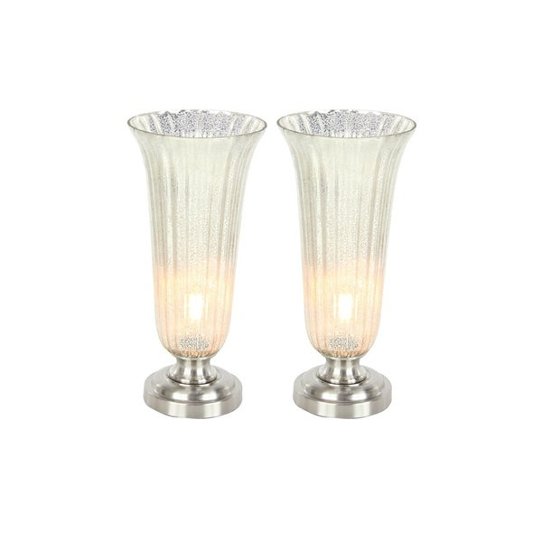 Studio 350 Set of 2, Glass Metal Uplight 20 inches high