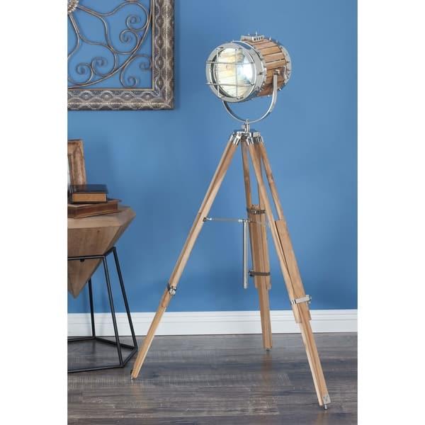 52 Inch Silver Spotlight Floor Lamp By