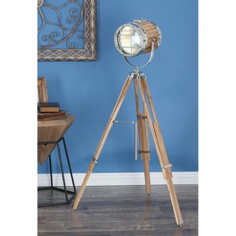 Industrial 52 Inch Silver Spotlight Floor Lamp by Studio 350