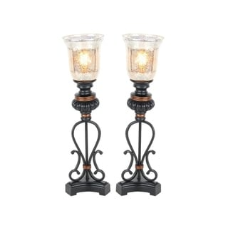 Studio 350 Set of 2, Metal Glass Uplight 26 inches high