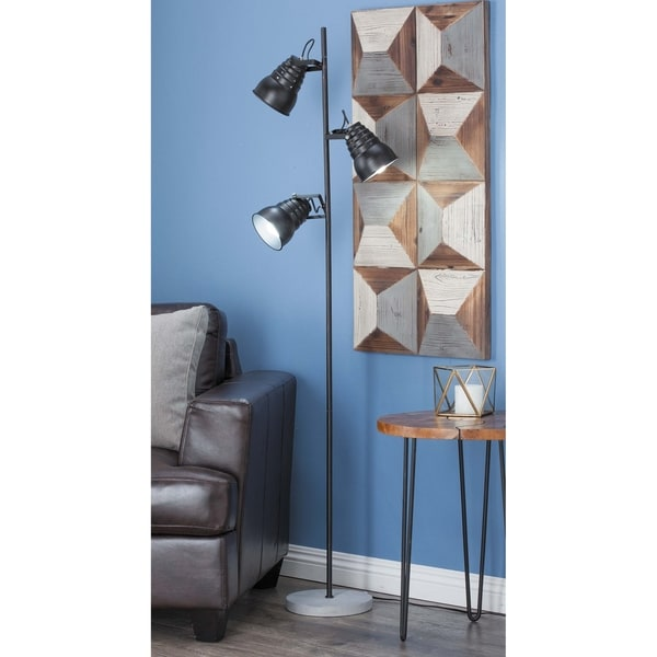 Modern 60 X 15 Inch Iron and Cement Bell Pole Floor Lamp by Studio 350