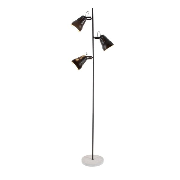 Studio 350 Metal Cement Pole Floor Lamp 15 inches wide, 60 inches high