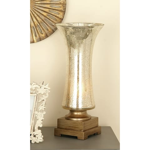 Studio 350 Set of 2, Glass PS Uplight 18 inches high