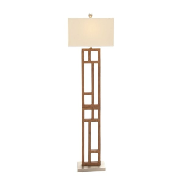 Studio 350 Wood Stainless Steel Floor Lamp 62 inches high