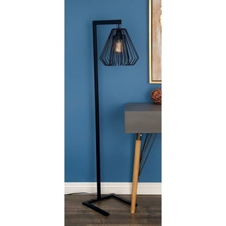 "Metal Wire Floor Lamp 55""H by Studio 350"