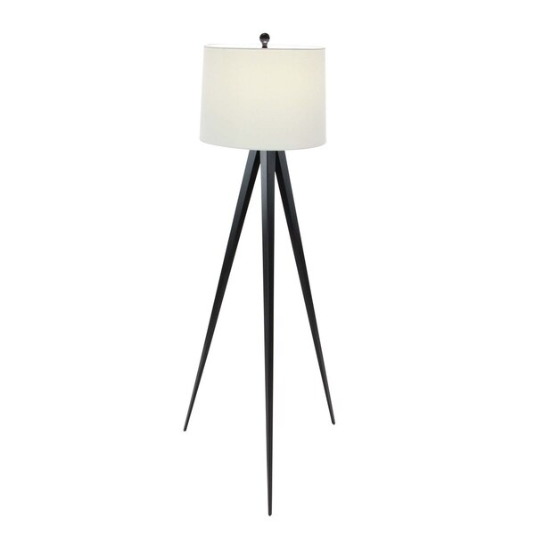 Industrial 56 x 22 Inch Iron and Linen Tripod Floor Lamp by Studio 350