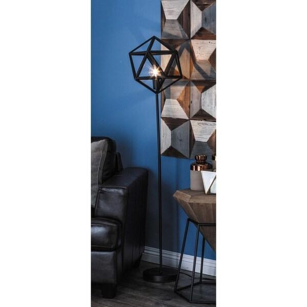 Shop Modern 60 Inch Black Hexagonal Prism Floor Lamp By