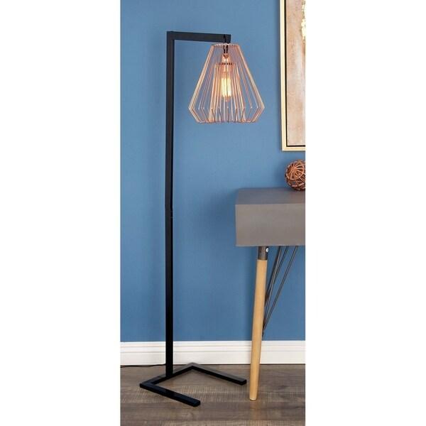 Contemporary 55 Inch Diamond-Shaped Iron Floor Lamp by Studio 350
