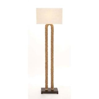 Studio 350 Metal Rope Pier Beige Iron 63-inch Floor Lamp